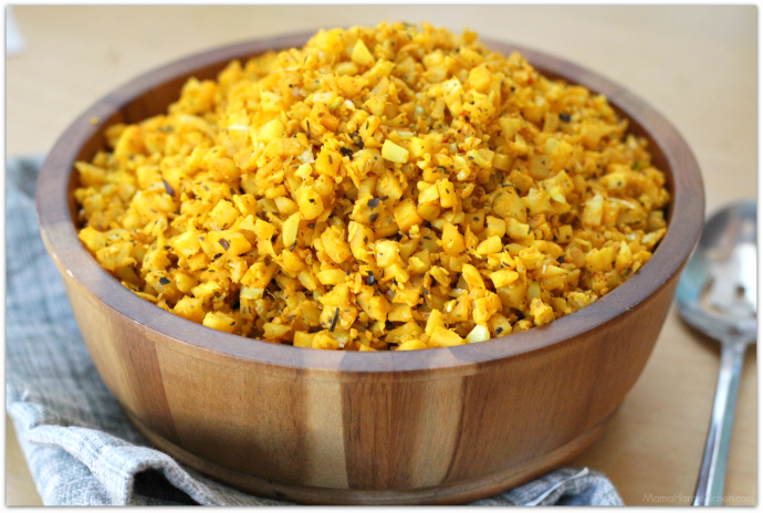 Smoky Turmeric Cauliflower Rice | Mama Harris' Kitchen
