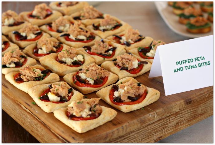 Fresh Entertaining Ideas with Tuna - Puffed Feta Tuna Bites AD #StarKistEVOO