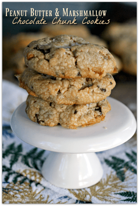 peanut butter marshmallow chocolate chunk cookies