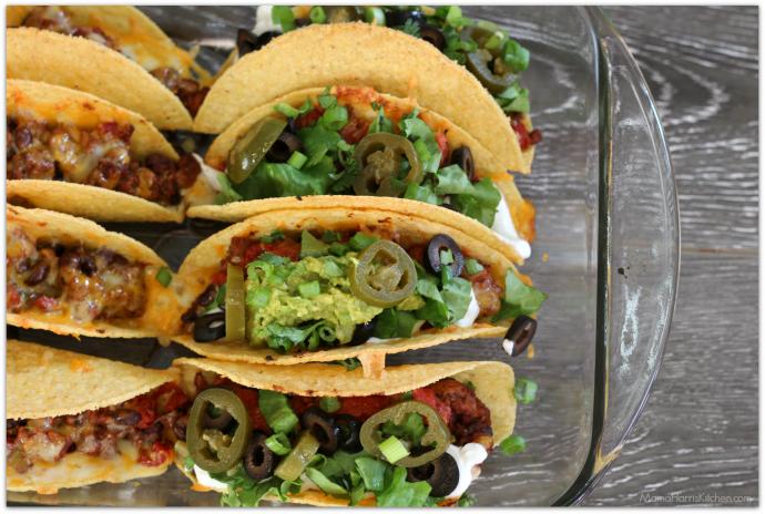 Baked Turkey Tacos with Black Beans - Mama Harris' Kitchen