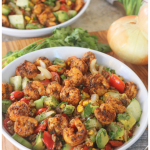 Pan-Seared Shrimp and Veggie Rice Bowl with Vidalia Onions
