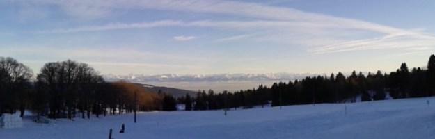 Ausblick von Les Loges, La Vue-des-Alpes