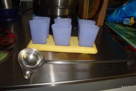Glacé-Förmchen vorbereiten