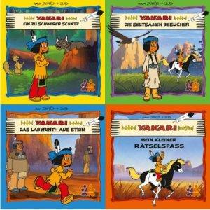 Titelblätter der 4 Yakari-Minibücher
