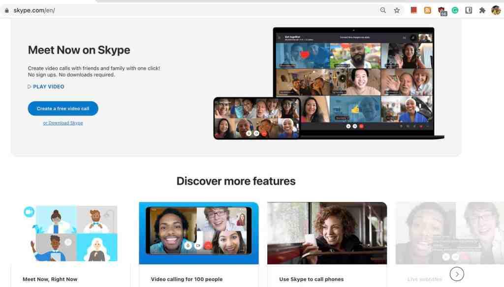 Meet Now on Skype