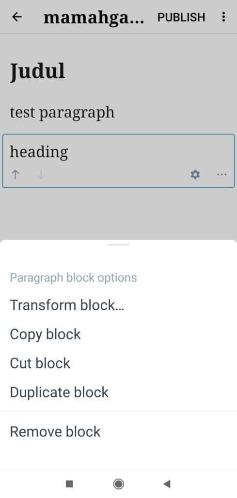 transform block