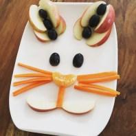Funny Food, Foodart,Hase, Rabbit, Essen für Kinder, for Kids, Obstteller