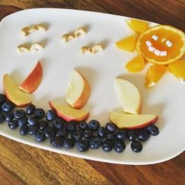 Funny Food, Foodart, maritim, Boote, Sommer, Essen für Kinder, for Kids, Obstteller