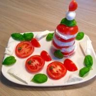 Funny Food, Foodart,Leuchtturm, maritim, Essen für Kinder, for Kids, Abendbrot, Tomate-Mozzarella, Gemüse