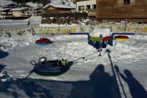 Das Schnee-Karussell im Bobo-Park.