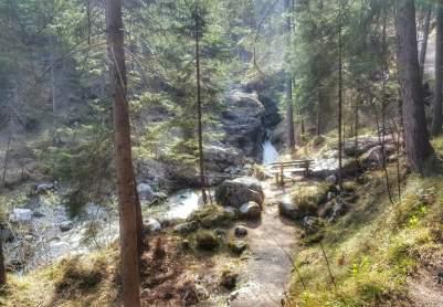 Spannende Kuhfluchtwasserfälle in Farchant