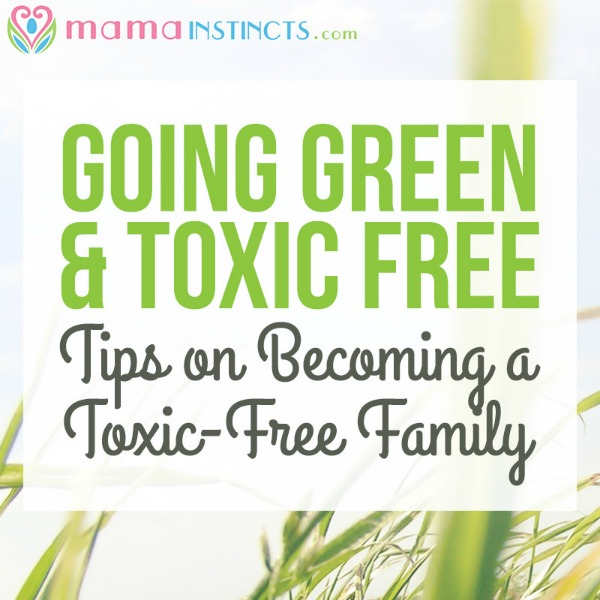 Take the step to a more non-toxic lifestyle with these easy tips and resources #nontoxic #goinggreen #toxicfree #green #healthyfamily