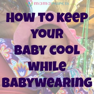 A useful tip to keep your baby cool while babywearing and in the stroller. #summer #babywearing #keepingcool #baby #babyproducts #strollertips