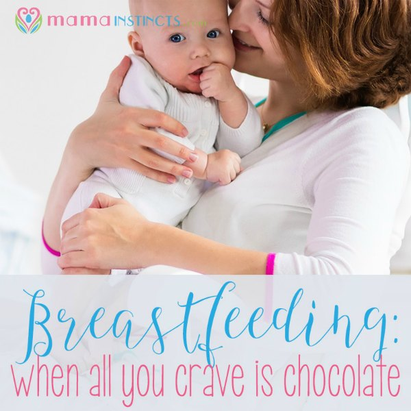 Are you breastfeeding and craving sweets like never before? Find out why + tips on how to deal with it. #breastfeeding #cravings