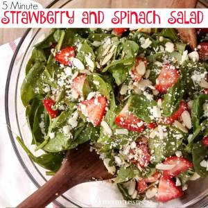 5 Minute Strawberry and Spinach Salad Recipe