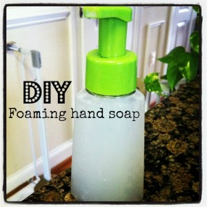 DIY {Organic} Foaming hand soap