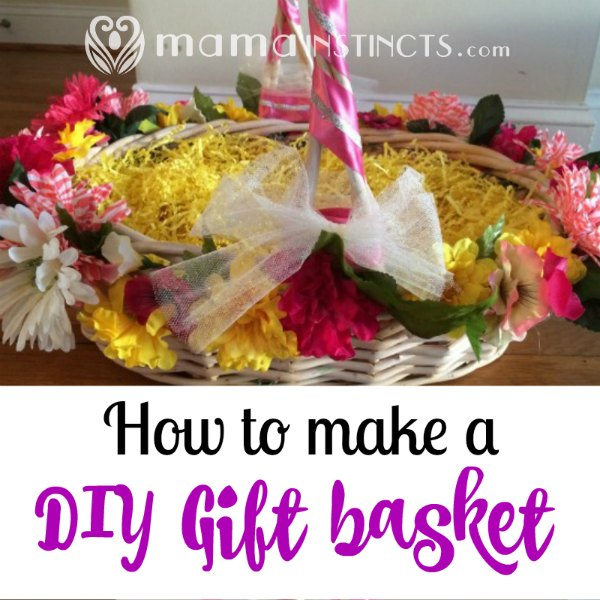Make any gift stand out by making a DIY basket to go along with it. This is so easy to make and gives your gift a very personal touch. #giftbasket #DIY #crafts