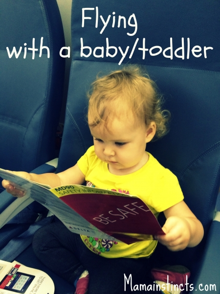 Flying with a baby toddler