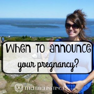 When to announce your pregnancy?