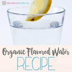 DIY organic flavored water