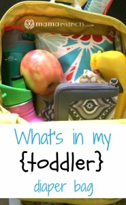 What's in my {toddler} diaper bag