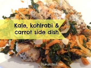 Kale, kohlrabi & carrot side dish recipe