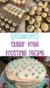 {Almost} sugar free frosting recipe