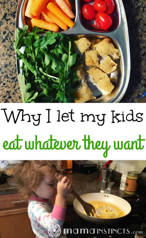 Find out how you can teach your kids to eat healthy and to not overeat; without forcing or forbidding foods.