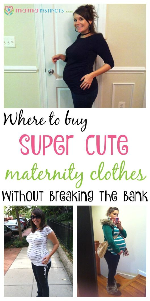 Maternity clothes can be expensive but they don't have to be. Check out these 10 places where you can find affordable maternity clothes and still look cute.