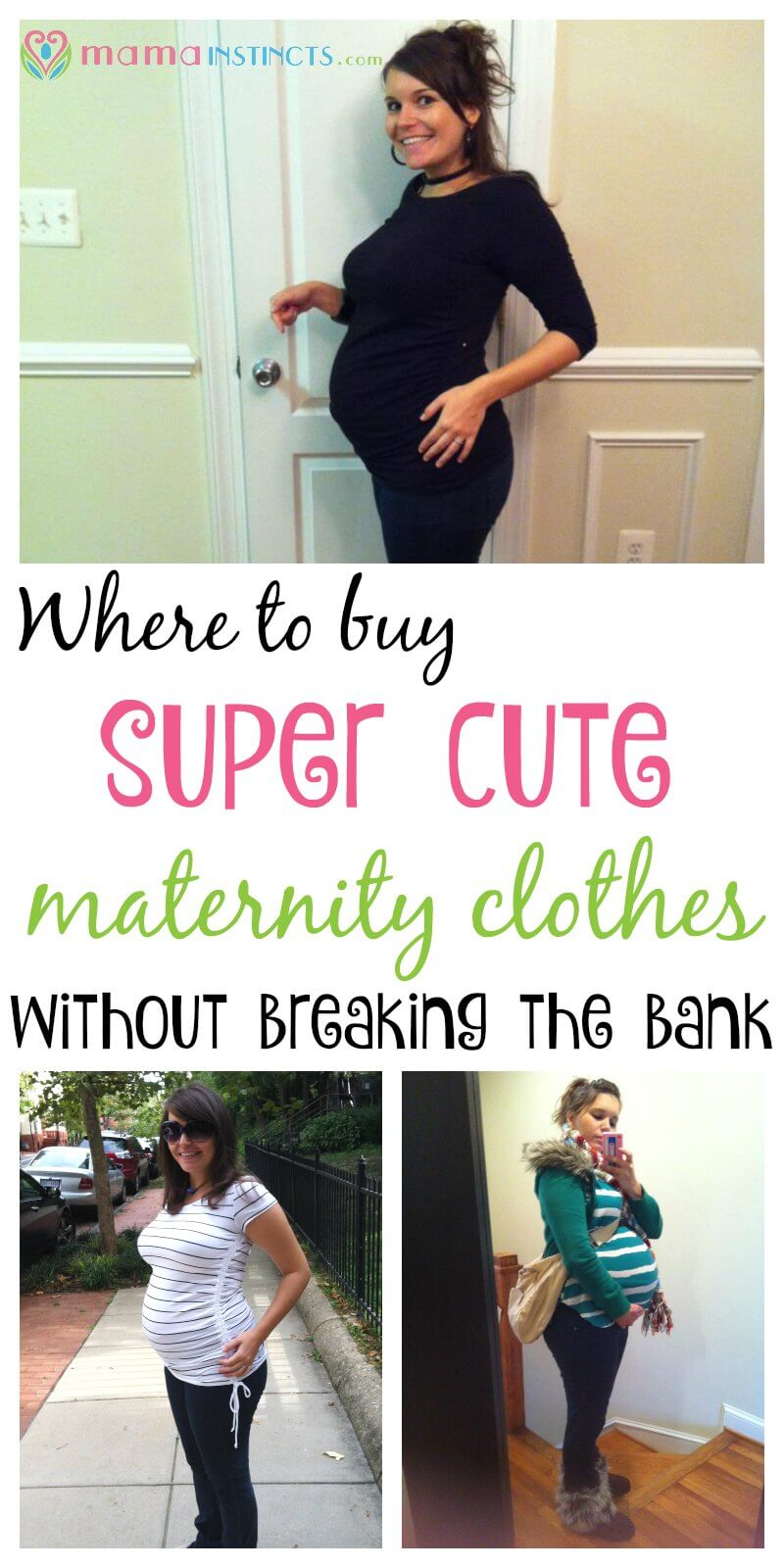 ee3ba1ceb707e Maternity clothes can be expensive but they don't have to be. Check out