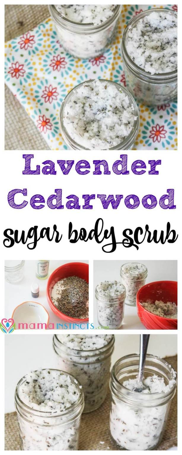 Who says you can't have a spa experience at home? Try this refreshing Lavender Cedarwood sugar body scrub and feel yourself come back to life.