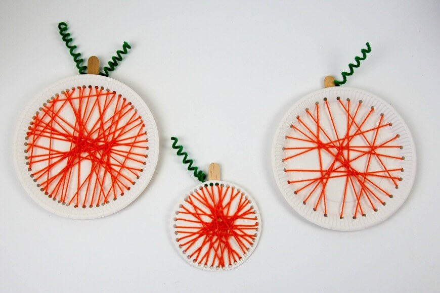 Pumpkin-paper-plate-lacing-craft-1
