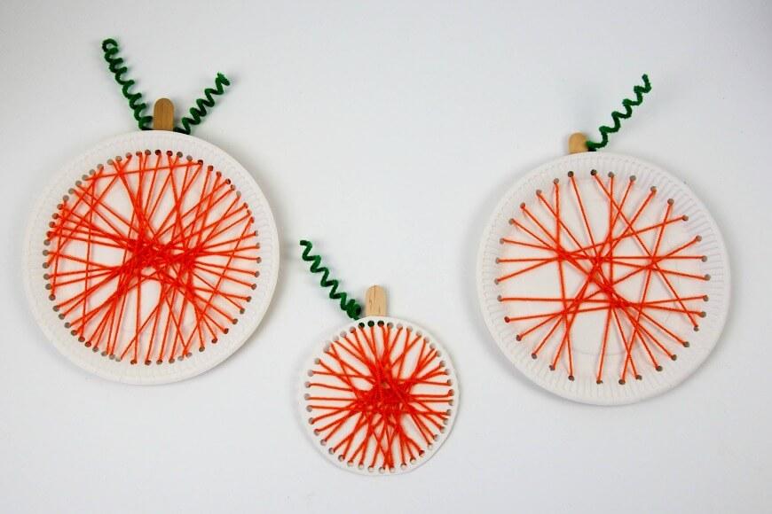 Pumpkin-paper-plate-lacing-craft-1