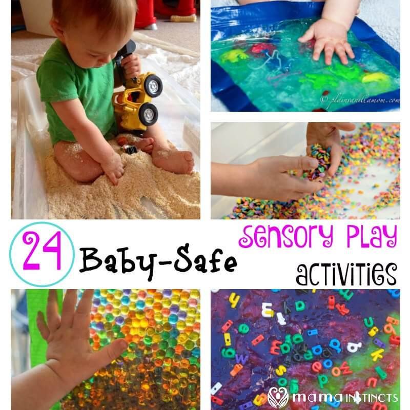 24 Baby-Safe Sensory Play activities