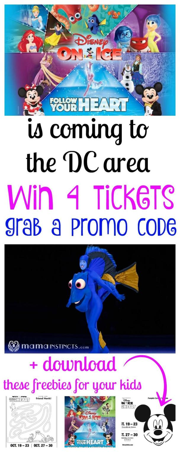 If you live in the DC area and have kids you can't miss out on this magical show. Enter this giveaway to win 4 tickets to Disney on Ice presents Follow your Heart or grab a promo code and download coloring freebies and activity booklet for your kids.
