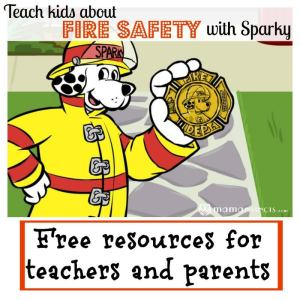 Teach kids about fire safety with Sparky