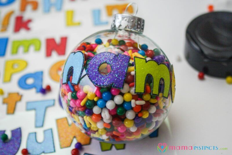 Personalized Christmas Ornament that Kids Can Make – Mama Instincts