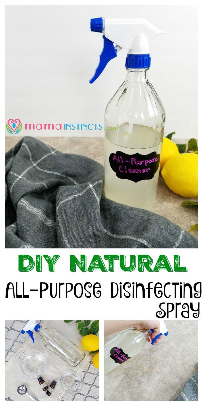 DIY Natural All-Purpose Disinfecting Spray – Mama Instincts®