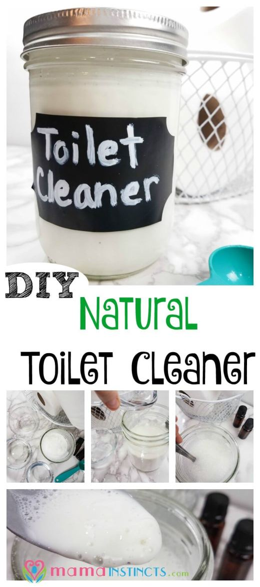 You can clean your toilet bowl with natural homemade products. Try this effective DIY recipe that will get your toilet clean without using harsh chemicals.