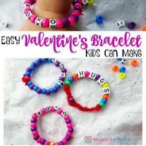 Easy Valentine's Bracelet Kids Can Make