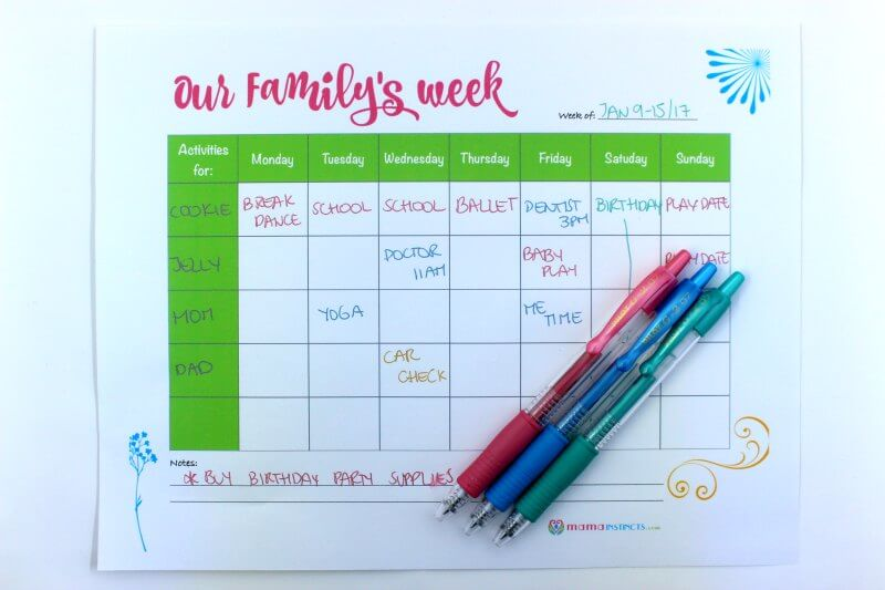 Weekly Scheduling Hack For Busy Families Free Printable Mama