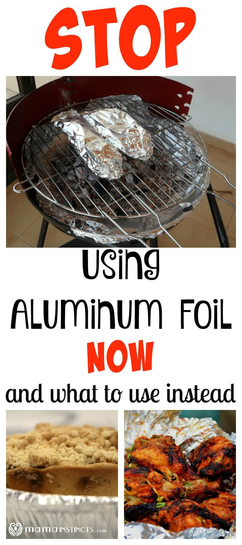 Which side to put the foil when used for baking and storing foods