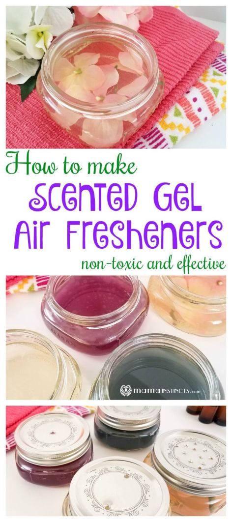 Did you know that most scented gels contain toxic chemicals? Learn how easy it is to make your own DIY homemade scented air freshener gel that is safe, non-toxic and effective.