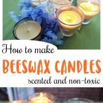 How To Make Beeswax Candles Scented And Non Toxic Mama Instincts