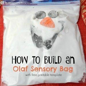 How to Build an Olaf Sensory Bag (with free printable)