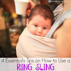 4 Essentials Tips on How to Use a Ring Sling Babycarrier