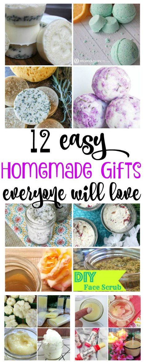 Looking for a homemade gift everyone will love? Try one or two of these recipes. They're easy to make and the products turn out great! #DIYbeauty #homemadegifts