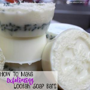 How To Make Exfoliating Loofah Soap Bars