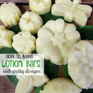 How to Make Lotion Bars with Pretty Designs