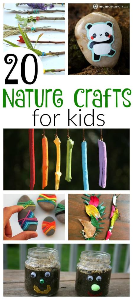 20 Nature Crafts For Kids Mama Instincts